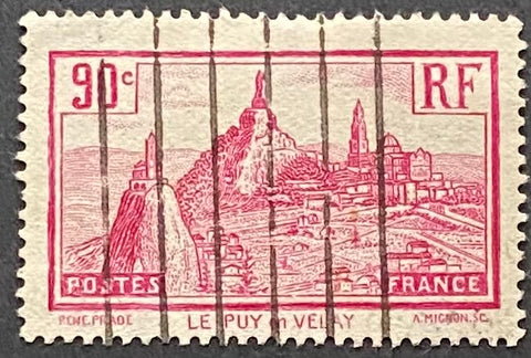 Le Puys-en-Velay 90 centimes used old stamp - France - 1933  Type: taille douce Yvert & Tellier: 290