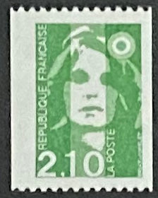"""Type Marianne du Bicentenaire provenant de roulettes"" - Type Marianne from the bicentenary coming from casters - 2f10 MNH old stamp - France - 1990  Type: taille-douce Yvert & Tellier: 2627"
