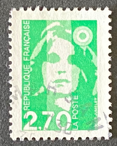 """Type Marianne du Bicentenaire"" - Type Marianne from the bicentenary - 2f70 used old stamp - France - 1996  Type: taille-douce Yvert & Tellier: 3005"