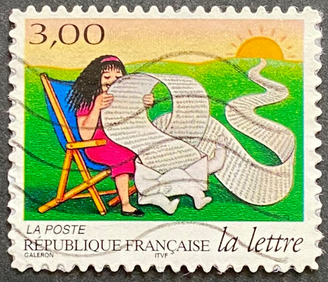 """Les journées de la lettre - le voyage d'une lettre - sa longue et captivante lecture"" - The days of a letter - the journey of a letter - its long and captivating reading  Type: rotogravure Yvert & Tellier: 3065"