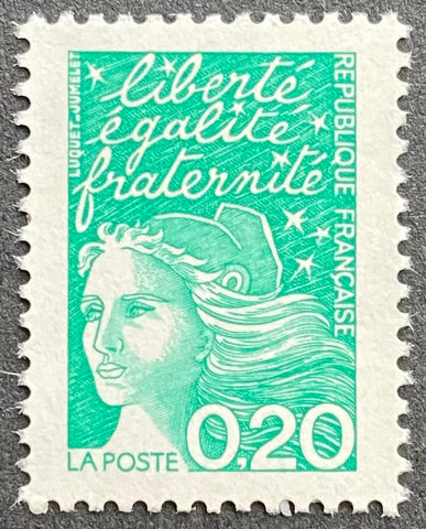 """Type Marianne du 14 Juillet"" - Type Marianne of July 14th - 20 centimes MNH old stamp - France - 1997  Type: taille-douce Yvert & Tellier: 3087"