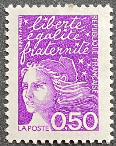 """Type Marianne du 14 Juillet"" - Type Marianne of July 14th - 50 centimes MNH old stamp - France - 1997  Type: taille-douce Yvert & Tellier: 3088"