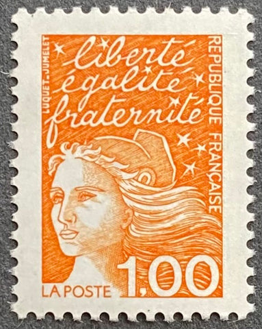 """Type Marianne du 14 Juillet"" - Type Marianne of July 14th - 1 franc MNH old stamp - France - 1997  Type: taille-douce Yvert & Tellier: 3089"