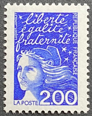 """Type Marianne du 14 Juillet"" - Type Marianne of July 14th - 2 francs MNH old stamp - France - 1997  Type: taille-douce Yvert & Tellier: 3090"