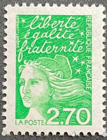 """Type Marianne du 14 Juillet"" - Type Marianne of July 14th - 2.70 francs MNH old stamp - France - 1997  Type: taille-douce Yvert & Tellier: 3091"