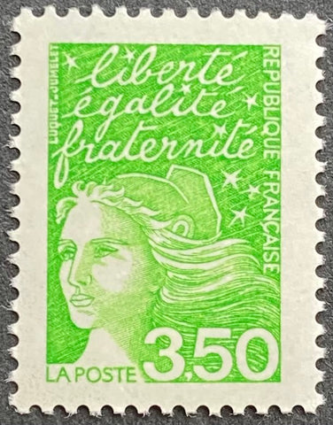 """Type Marianne du 14 Juillet"" - Type Marianne of July 14th - 3.50 francs MNH old stamp - France - 1997  Type: taille-douce Yvert & Tellier: 3092"