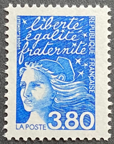 """Type Marianne du 14 Juillet"" - Type Marianne of July 14th - 3.80 francs MNH old stamp - France - 1997  Type: taille-douce Yvert & Tellier: 3093"