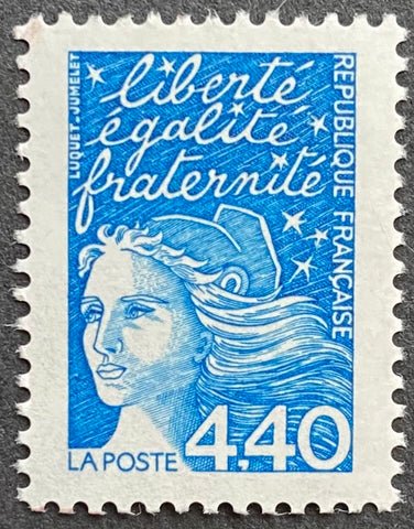 """Type Marianne du 14 Juillet"" - Type Marianne of July 14th - 4.40 francs MNH old stamp - France - 1997  Type: taille-douce Yvert & Tellier: 3095"