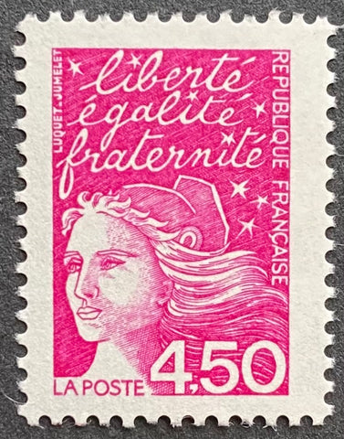 """Type Marianne du 14 Juillet"" - Type Marianne of July 14th - 4.50 francs MNH old stamp - France - 1997  Type: taille-douce Yvert & Tellier: 3096"