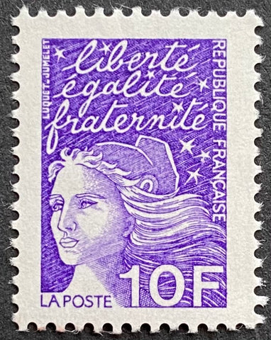 """Type Marianne du 14 Juillet"" - Type Marianne of July 14th - 10 francs MNH old stamp - France - 1997  Type: taille-douce Yvert & Tellier: 3099"