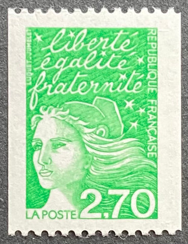 """Type Marianne du 14 Juillet"" - Type Marianne of July 14th - 2.70 francs MNH old stamp coming from casters - France - 1997  Type: taille-douce Yvert & Tellier: 3091"