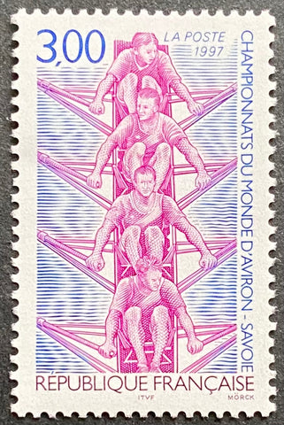 """Championnats du monde d'aviron - Savoie"" - World Rowing Championships - Savoie - 3 francs MNH old stamp - France - 1997  Type: taille-douce Yvert & Tellier: stamp 3102"