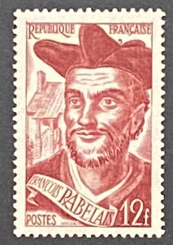 FRA0866MH-François Rabelais - 12f mint hinged old stamp - France - 1950