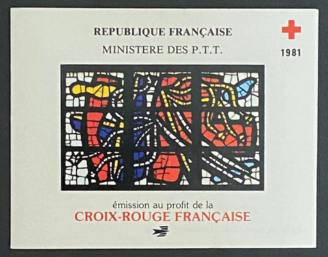 """Carnets Croix-Rouge Française - Fernand Leger""- Red-Cross booklet - booklet nr. 20230 with 8 MNH old stamps - France - 1981  Yvert & Tellier: stripe booklet (bande carnet) nr. 2030 with stamps 2175-2176"