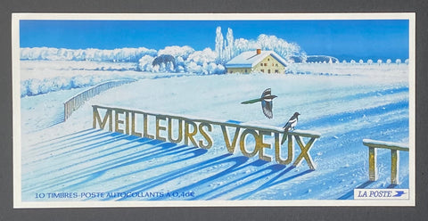 """Carnets commémoratifs - Meilleurs voeux""- Commemorative booklet - Best wishes - booklet nr. BC3534a with 10 MNH old stamps - France - 2002  Yvert & Tellier: stripe booklet (bande carnet) nr. BC3534a with stamps 3534"