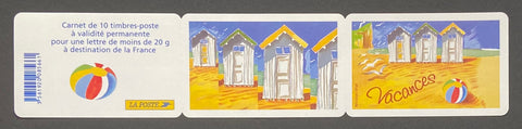 """Carnets commémoratifs - Bonnes vacances""- Commemorative booklet - Happy holidays - booklet nr. BC3788 with 10 MNH stamps - France - 2005  Yvert & Tellier: stripe booklet (bande carnet) nr. BC3788 with stamps 3788"