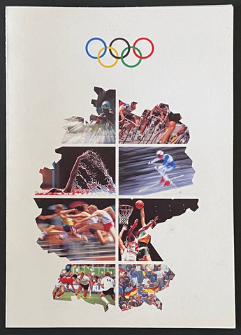 """Klappkarte Olympische Spiele München 92"" - Folded card Olympic Games Munich 92 - Germany - 1992"