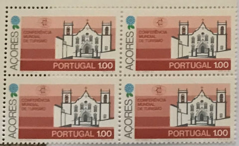 "POR#2310-Set of 4 blocks of 4 MNH old stamps - ""Conferência Mundial de Turismo - Açores"" - Portugal - 1980"