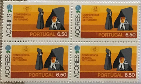 "Block of 4 mint never hinged old stamps of 6$50 - ""Conferência Mundial de Turismo - Açores"" - World Tourism Conference - Azores - Portugal - 1980  Stamp 6$50 Afinsa 1483"