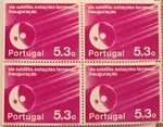 "Block of 4 mint never hinged old stamps of 5$30 - ""Inauguração das Estações Terrenas das Comunicações via Satélite"" - Inauguration of the satellite communications ground stations - Portugal - 1974  Stamp 5$30 Afinsa 1214"