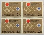 "Block of 4 mint never hinged old stamps of $20 - ""Jogos Olímpicos de Tóquio 1964"" - Tokyo 1964 Olympic Games - Portugal - 1964  Stamp $20 Afinsa 939"