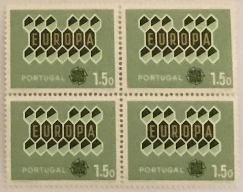 "POR#4172-Block of 4 MNH old stamps of 1.50 escudos - ""Europa CEPT"" - Portugal - 1962"