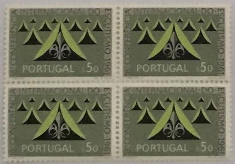 "Block of 4 mint never hinged old stamps of $50 - ""18. conferência internacional do escutismo"" - 18th. international scouting conference - Portugal - 1962  Stamp $50 Afinsa 889"