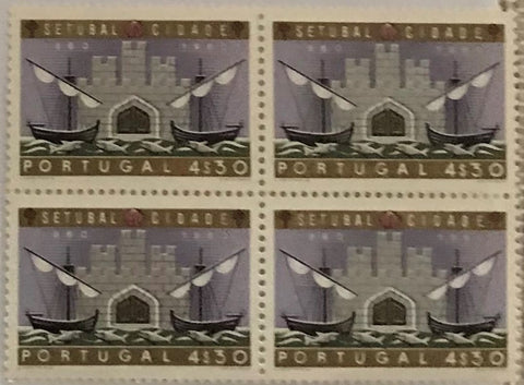 "Block of 4 mint never hinged old stamps of 4$30 - ""1. centenário da cidade de Setúbal"" - 1st. centenary of the city of Setúbal - Portugal - 1961  Stamp 4$30 Afinsa 877"