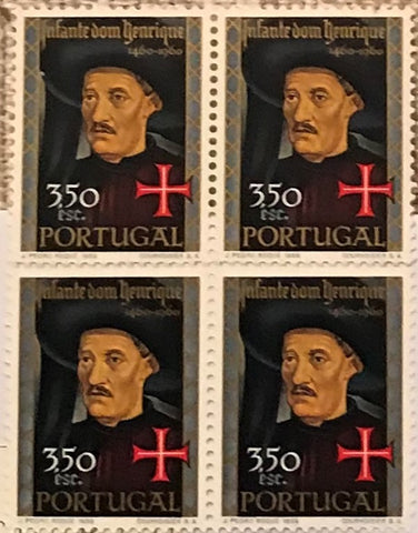 "Block of 4 mint never hinged old stamps of 3$50 - ""5. centenário da morte do Infante D. Henrique"" - 5th. centenary of the death of Infante D. Henrique - Portugal - 1960  Stamp   3$50 Afinsa 865"