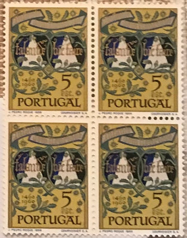"Block of 4 mint never hinged old stamps of 5$00 - ""5. centenário da morte do Infante D. Henrique"" - 5th. centenary of the death of Infante D. Henrique - Portugal - 1960  Stamp 5$00 Afinsa 866"