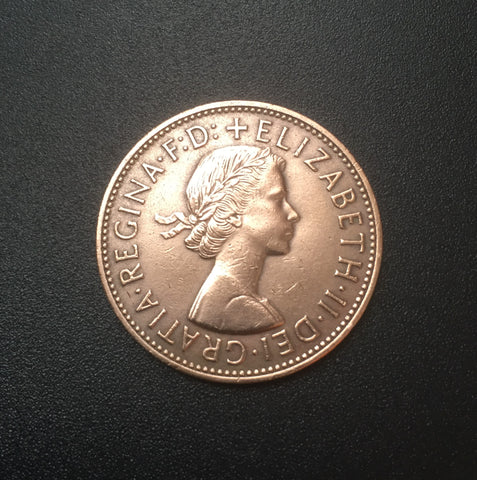 Queen Elizabeth II - 1 Penny old coin - Great-Britain - 1962  Facial value: 1 Penny Year: 1962 Time: Queen Elizabeth II (since 1952)