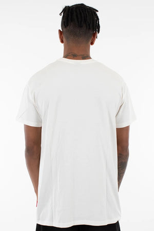 PIERRE 3 PANEL TEE - WHITE/NAVY