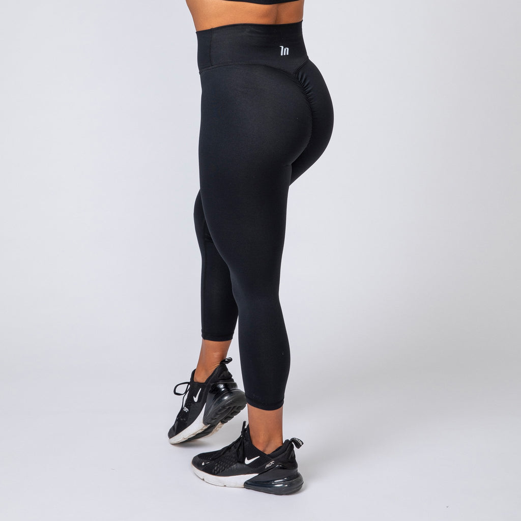 7/8 SCRUNCH LEGGINGS - BLACK