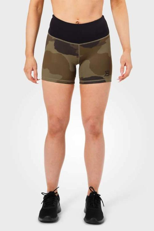 CHELSEA HOTPANTS – DARK GREEN CAMO