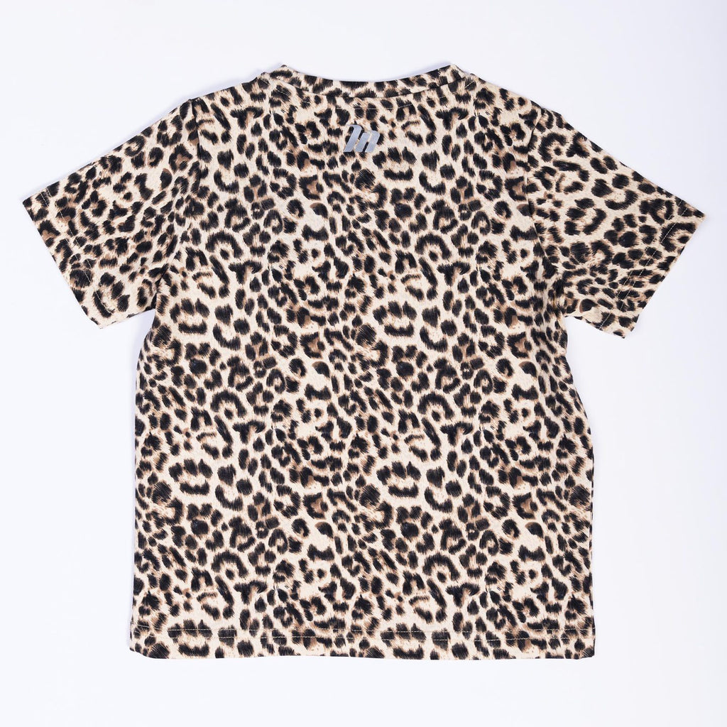 KIDS EMBROIDERY TEE - LEOPARD