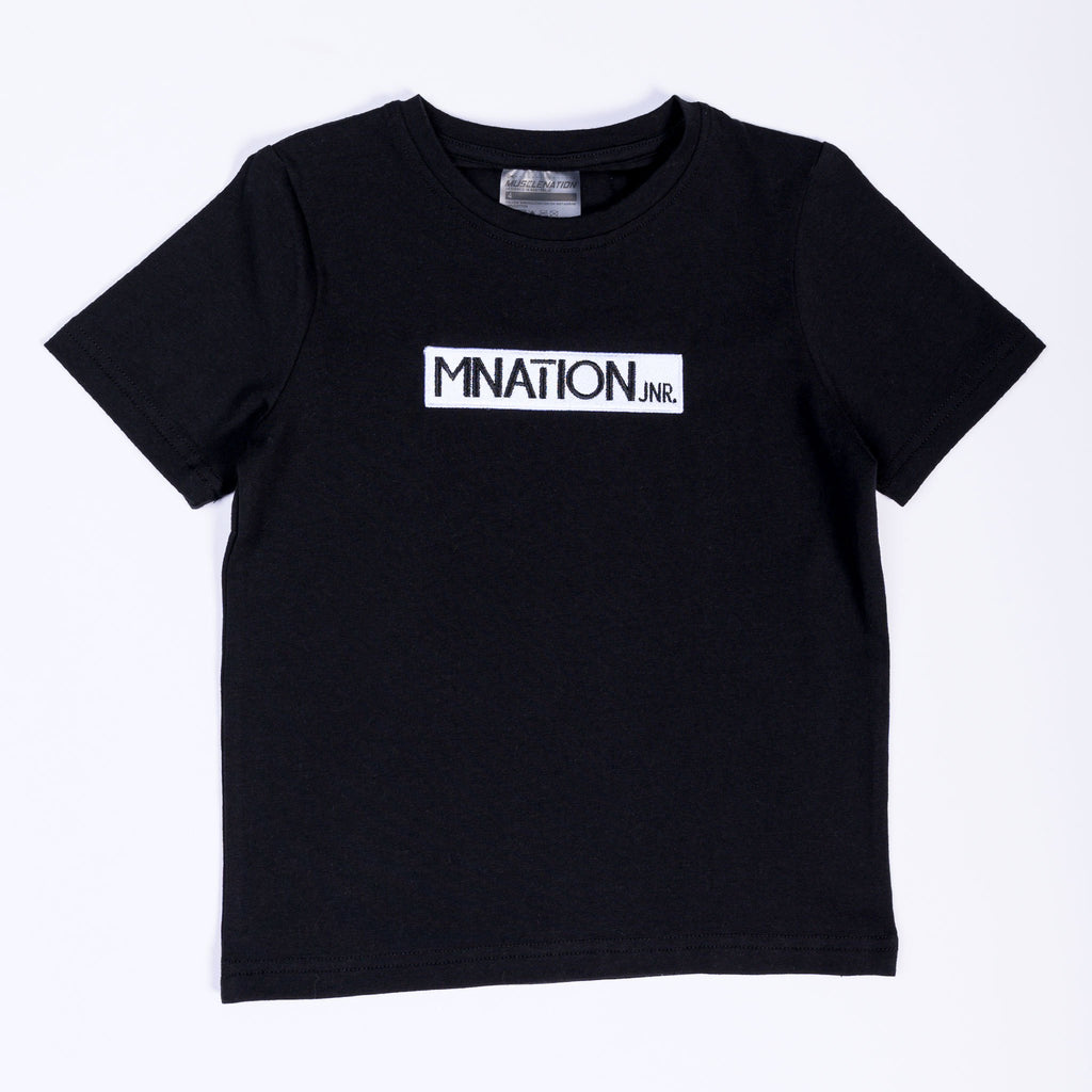 KIDS EMBROIDERY TEE - BLACK