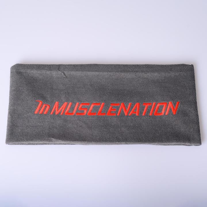 MUSCLE NATION GYM TOWEL - GREY