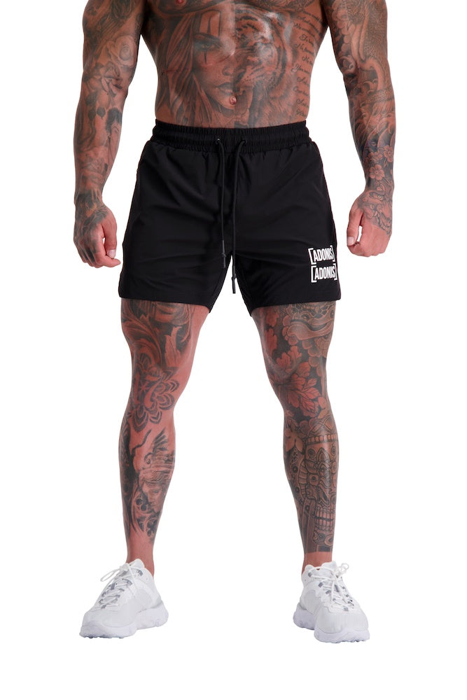 AG54 UTILITY (BLACK) 5″ SHORTS