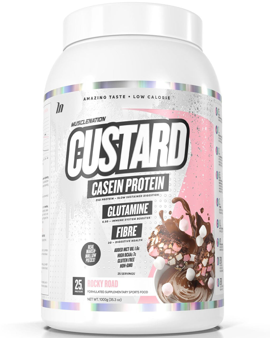 CUSTARD CASEIN PROTEIN ROCKY ROAD (W/ REAL MARSHMALLOW PIECES)