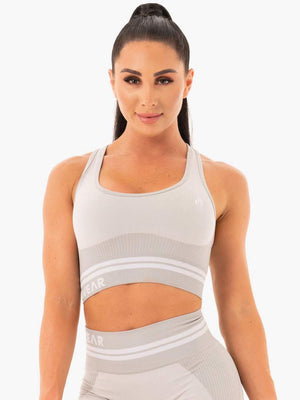 FREESTYLE SEAMLESS LONGLINE SPORTS BRA GREY