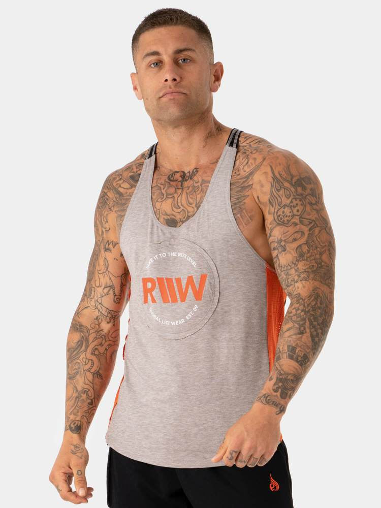 UTILITY T-BACK STRINGER TANK - GREY
