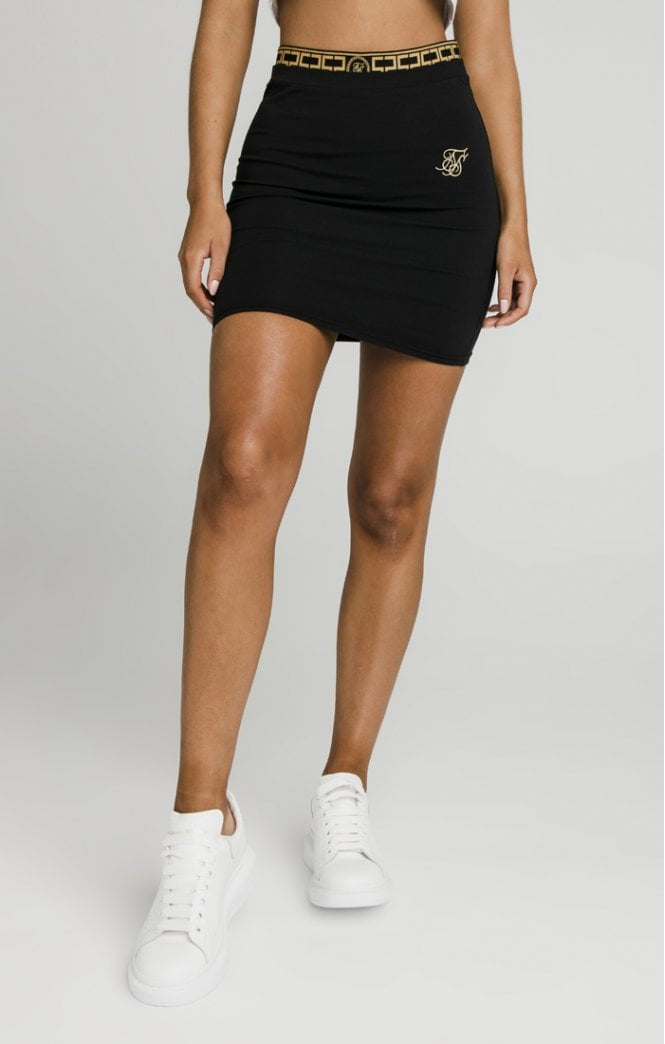 SikSillk Athena Tape Skirt - Black