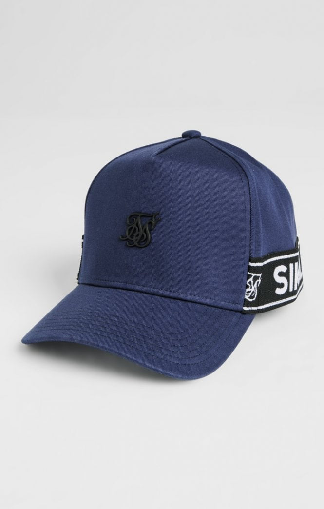 SikSilk Stretch Fit Full Trucker - Navy