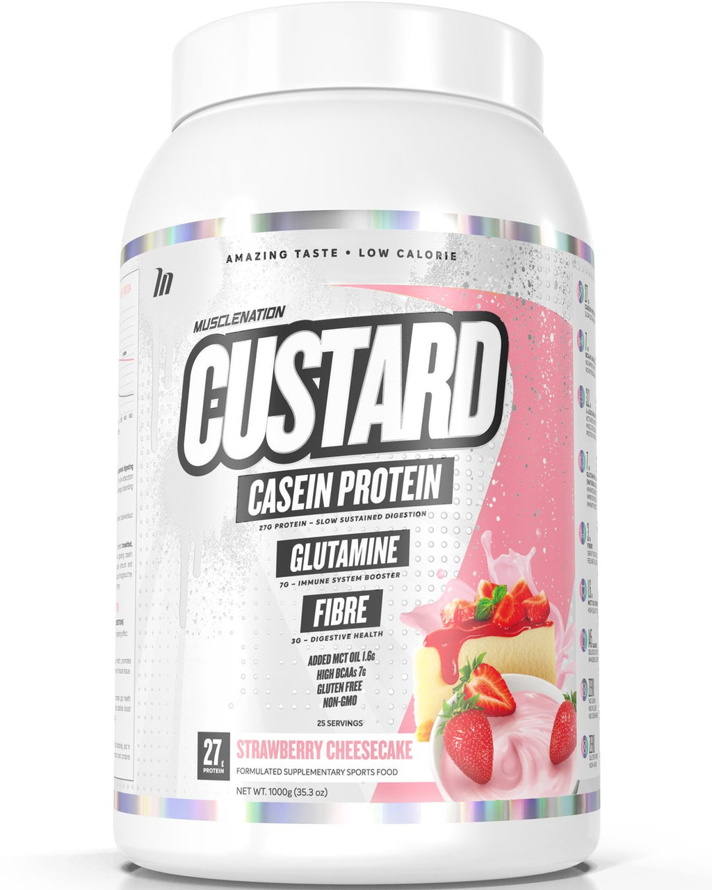 CUSTARD CASEIN PROTEIN STRAWBERRY CHEESECAKE