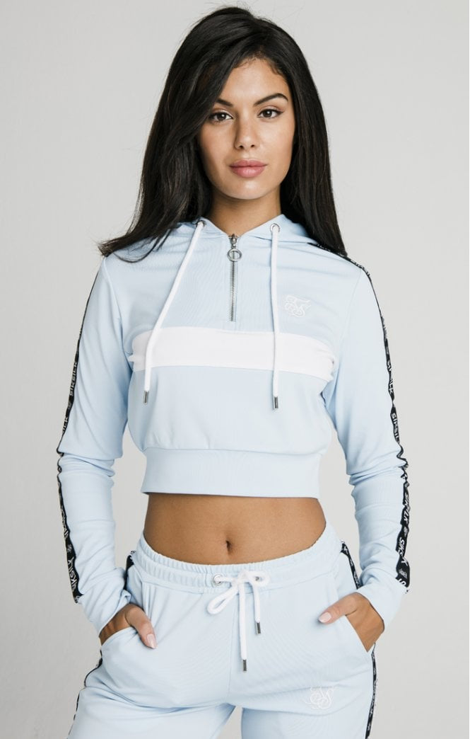 SikSilk Sky Tape Track Top - Light Blue