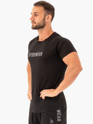 ACTIVE COTTON T-SHIRT BLACK