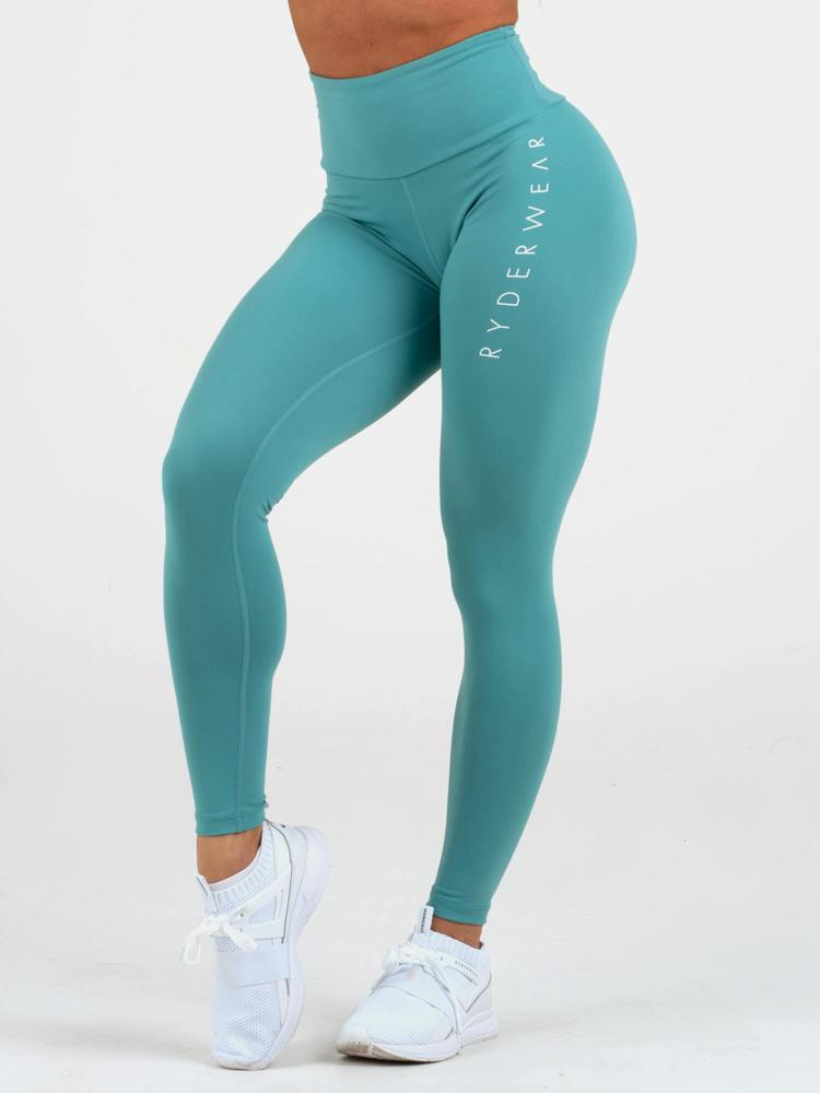 INSTINCT SCRUNCH BUM LEGGINGS - TEAL