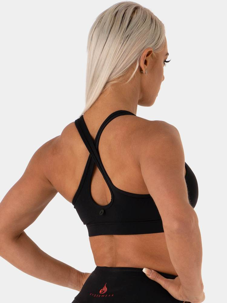 NEONUDE SPORTS BRA BLACK NEON