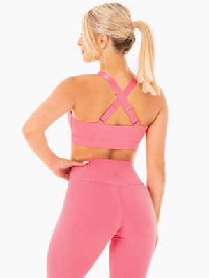 COLLIDE MESH CONTOUR SPORTS BRA PINK LEMONADE