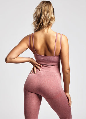 GYM KING FITNESS LEGGING - BERRY